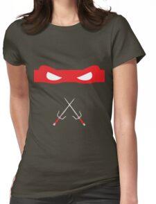 Red Ninja Turtles Raphael Womens Fitted T-Shirt