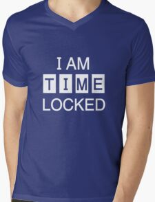 Time Locked Mens V-Neck T-Shirt