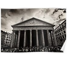 Dramatic view of the Pantheon Poster