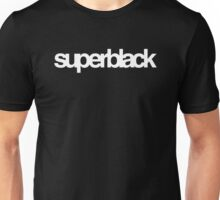 superblack logotype (white) Unisex T-Shirt