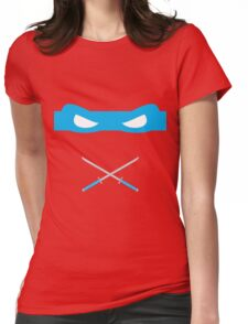 Blue Ninja Turtles Leonardo Womens Fitted T-Shirt