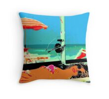 Pop summer with Wislawa Szymborska...(For this year you do not change...same boat same sea!!) Throw Pillow