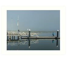 Two Bubblers on Werribee South Jetty Vic. Art Print