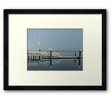 Two Bubblers on Werribee South Jetty Vic. Framed Print