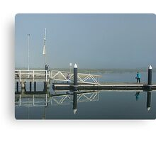 Two Bubblers on Werribee South Jetty Vic. Canvas Print