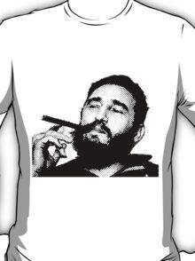 Young Fidel Castro Smoking Cigar T-Shirt