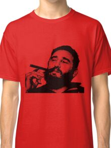 Young Fidel Castro Smoking Cigar Classic T-Shirt