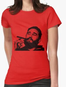 Young Fidel Castro Smoking Cigar Womens Fitted T-Shirt