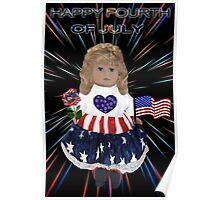 ̲̅L̲̅][̲̅I̲̅][̲̅K̲̅][̲̅E̲̅]HAPPY FOURTH OF JULY PATRIOTIC DOLL PICTURE/CARD ̲̅L̲̅][̲̅I̲̅][̲̅K̲̅][̲̅E̲̅] Poster
