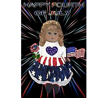 ̲̅L̲̅][̲̅I̲̅][̲̅K̲̅][̲̅E̲̅]HAPPY FOURTH OF JULY PATRIOTIC DOLL PICTURE/CARD ̲̅L̲̅][̲̅I̲̅][̲̅K̲̅][̲̅E̲̅] Photographic Print