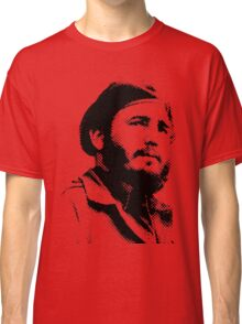 Young Fidel Castro with a Dreamy Look and Beret Classic T-Shirt