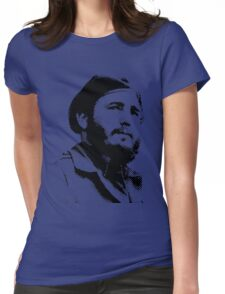 Young Fidel Castro with a Dreamy Look and Beret Womens Fitted T-Shirt