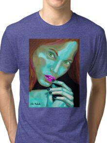 Beautiful Fluorescent Girl  Tri-blend T-Shirt