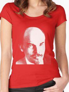 Vladimir Ilyich Lenin Charismatic Look Shirt Women's Fitted Scoop T-Shirt