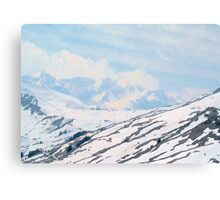 Mountains in the snow Canvas Print