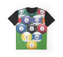 Billiards Pool Balls Racked Graphic T-Shirt