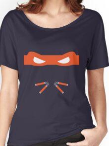 Orange Ninja Turtles Michelangelo Women's Relaxed Fit T-Shirt