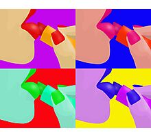 Colorful Pop Art of Lipstick on Sexy Lips Photographic Print