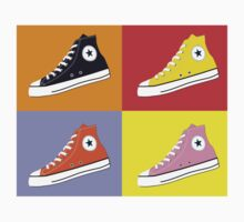 Pop Art All Star Inspired Hi Top Sneaker Kids Tee