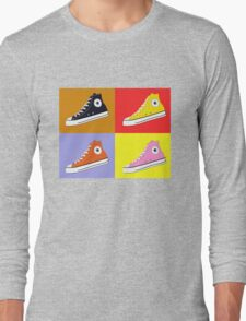 Pop Art All Star Inspired Hi Top Sneaker Long Sleeve T-Shirt