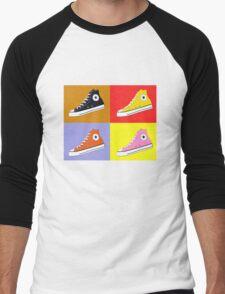 Pop Art All Star Inspired Hi Top Sneaker Men's Baseball ¾ T-Shirt