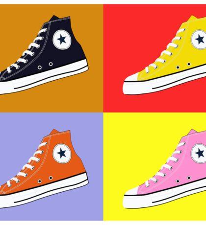 Pop Art All Star Inspired Hi Top Sneaker Sticker