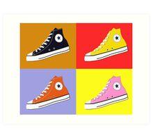 Pop Art All Star Inspired Hi Top Sneaker Art Print