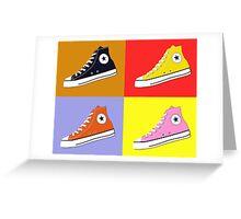 Pop Art All Star Inspired Hi Top Sneaker Greeting Card