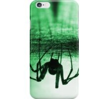 Spider green iPhone Case/Skin