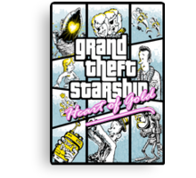 Grand Theft Starship : Heart of Gold Canvas Print