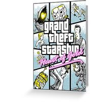 Grand Theft Starship : Heart of Gold Greeting Card
