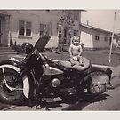 vintage biker baby by asyrum
