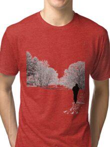 Walk in the snow Tri-blend T-Shirt