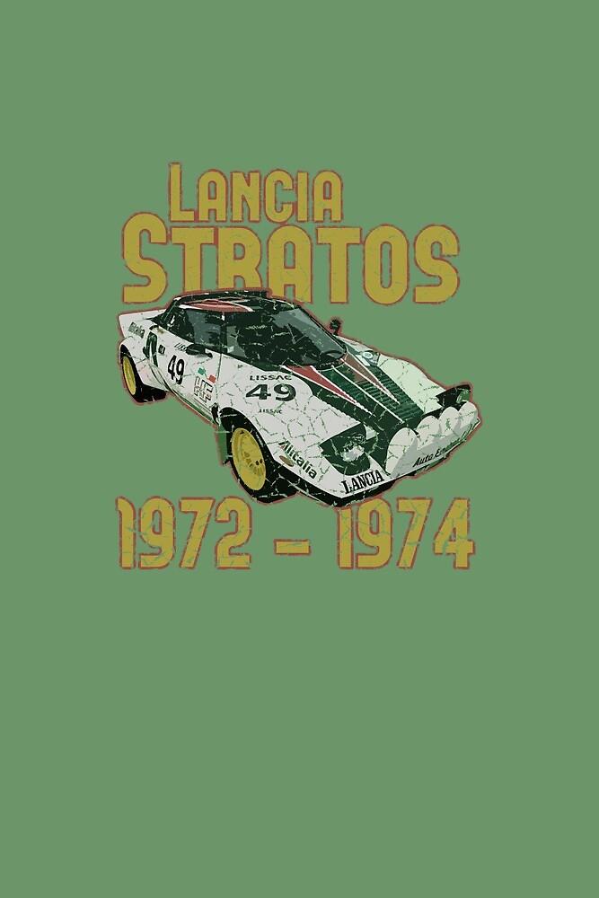 Vintage Look Lancia Stratos Retro Rally Car by VintageSpirit