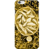 Ice bubbles gold iPhone Case/Skin