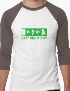 Bachelors last night out Men's Baseball ¾ T-Shirt