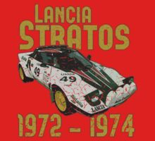 Vintage Look Lancia Stratos Retro Rally Car Kids Clothes