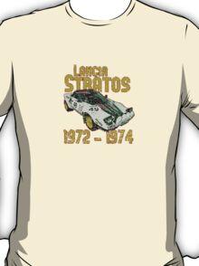 Vintage Look Lancia Stratos Retro Rally Car T-Shirt