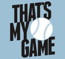 baseball - that's my game One Piece - Short Sleeve