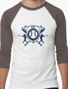 baseball player logo Men's Baseball ¾ T-Shirt