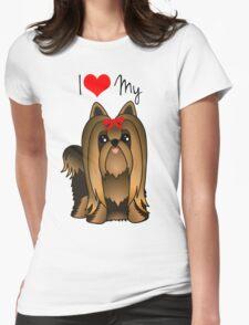 Cute Long Hair Yorshire Terrier Puppy Dog T-Shirt