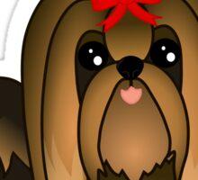 Cute Long Hair Yorshire Terrier Puppy Dog Sticker