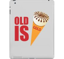 Old is gold iPad Case/Skin