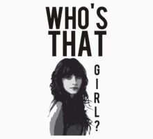 New Girl T-shirt Who's That Girl? by Marrymytelly