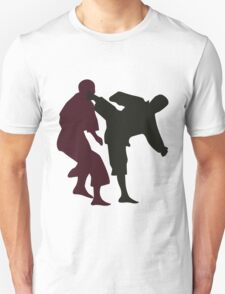 Silhouettes of Martial Artists Fighting T-Shirt