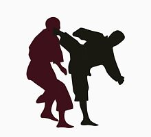 Silhouettes of Martial Artists Fighting Unisex T-Shirt