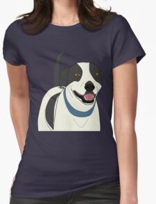 Cute Smiling Dog Line Art T-Shirt