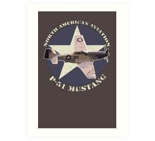 Vintage Look North American Aviation P-51 Mustang Fighter Art Print