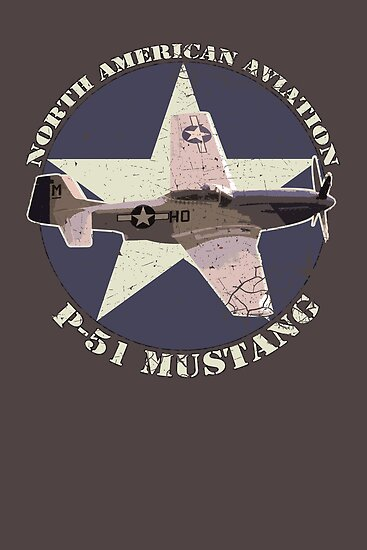 Vintage Look North American Aviation P-51 Mustang Fighter by VintageSpirit