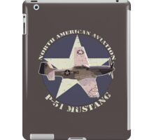 Vintage Look North American Aviation P-51 Mustang Fighter iPad Case/Skin